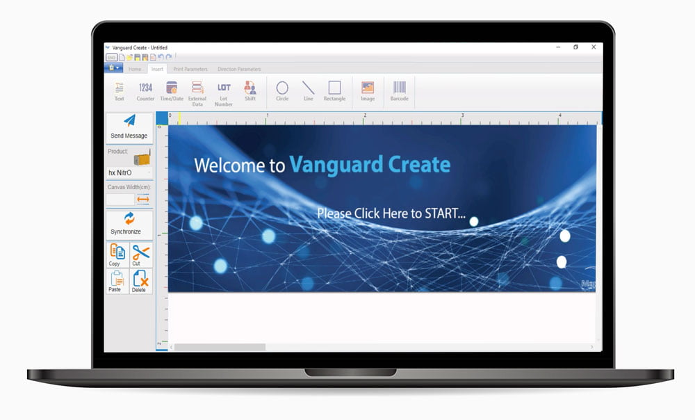 Vanguard Create Software for Hx Nitro industrial tij printer