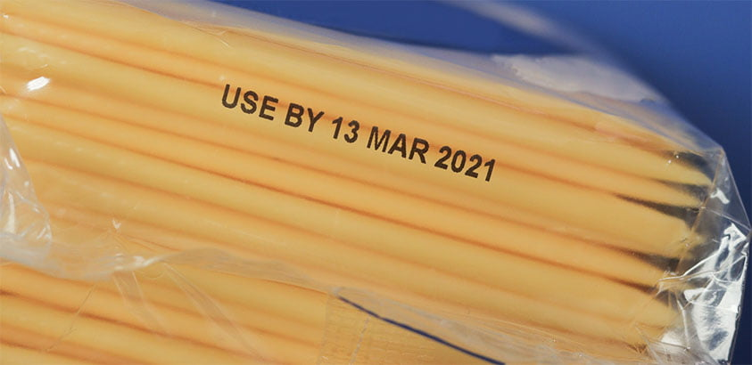 Tips on printing date codes on pouch, and other flexible packaging